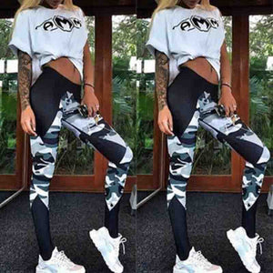Camouflage Sexy Athleisure Leggings / Yoga pants: Push Up