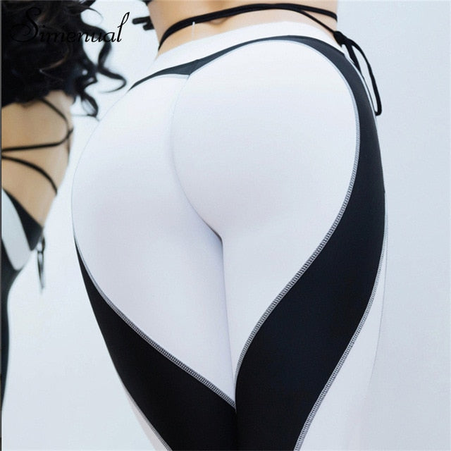 ccd5692e05b1a ... Load image into Gallery viewer, Heart Pattern Sexy Athleisure Leggings  / Yoga pants: Black ...