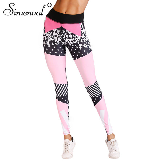3D Print Sexy Athleisure Leggings / Yoga pants: Simenual