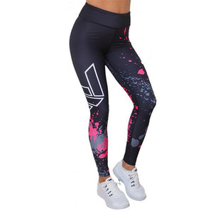 3D Print Sexy Athleisure Leggings / Yoga pants: Crisscross