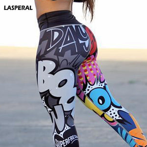 Funny Print Sexy Athleisure Leggings / Yoga pants: LASPERAL