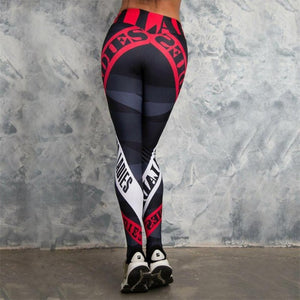 Red & White Sexy Athleisure Leggings / Yoga pants: New Fashion