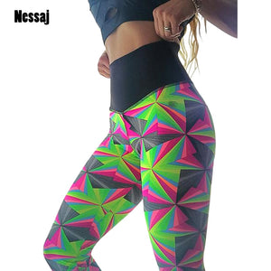 Geometric Sexy Athleisure Leggings / Yoga pants: Nessaj