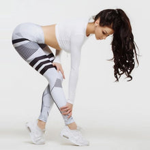 Load image into Gallery viewer, Striped Sexy Athleisure Leggings / Yoga pants: Nessaj