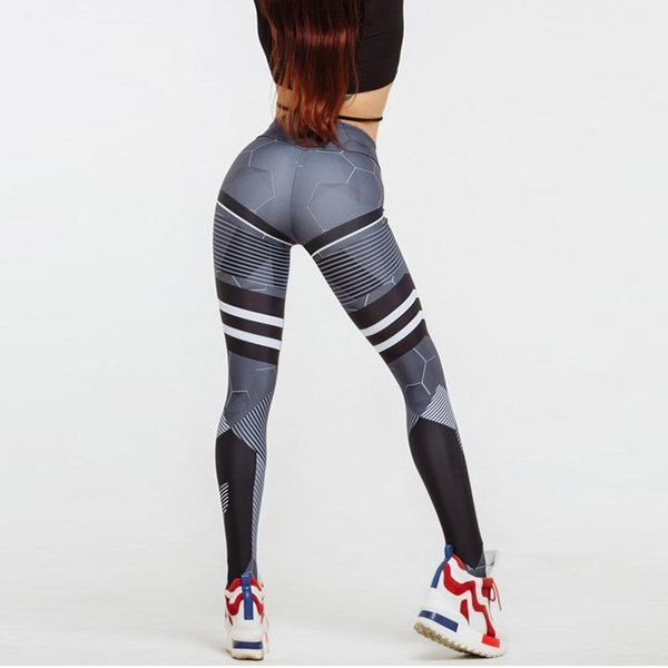 Striped Sexy Athleisure Leggings / Yoga pants: Nessaj