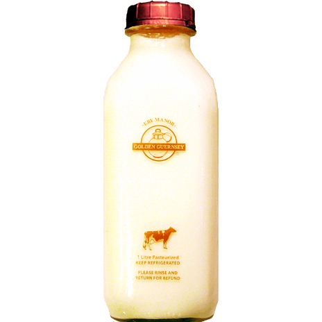 2 % Guernsey Milk 1 L (Includes $2 Jar Deposit)