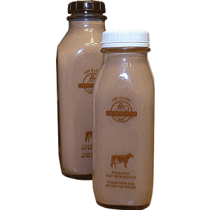 4% Chocolate Guernsey Milk 1 L (Includes $2 Jar Deposit)