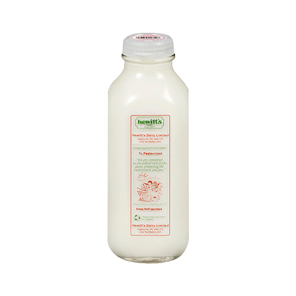3.25% Homogenized Milk - Hewitt's Dairy <BR> (Includes $2 Jar Deposit)