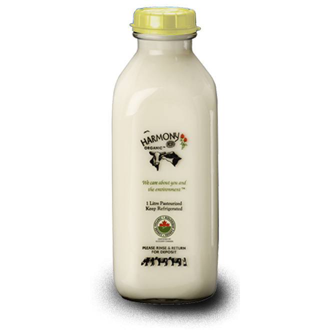 35% Whipping Cream - Harmony Organic <BR> (Includes $2 Jar Deposit)