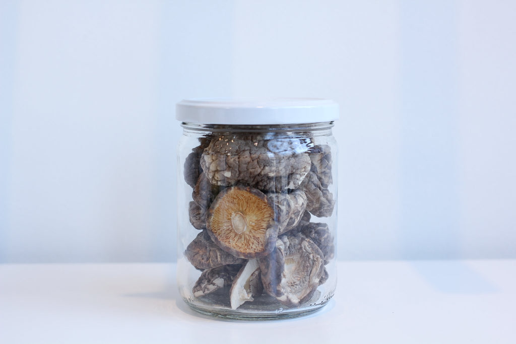 Mushrooms - Dried Shiitake <BR> (Includes $1 Jar Deposit)