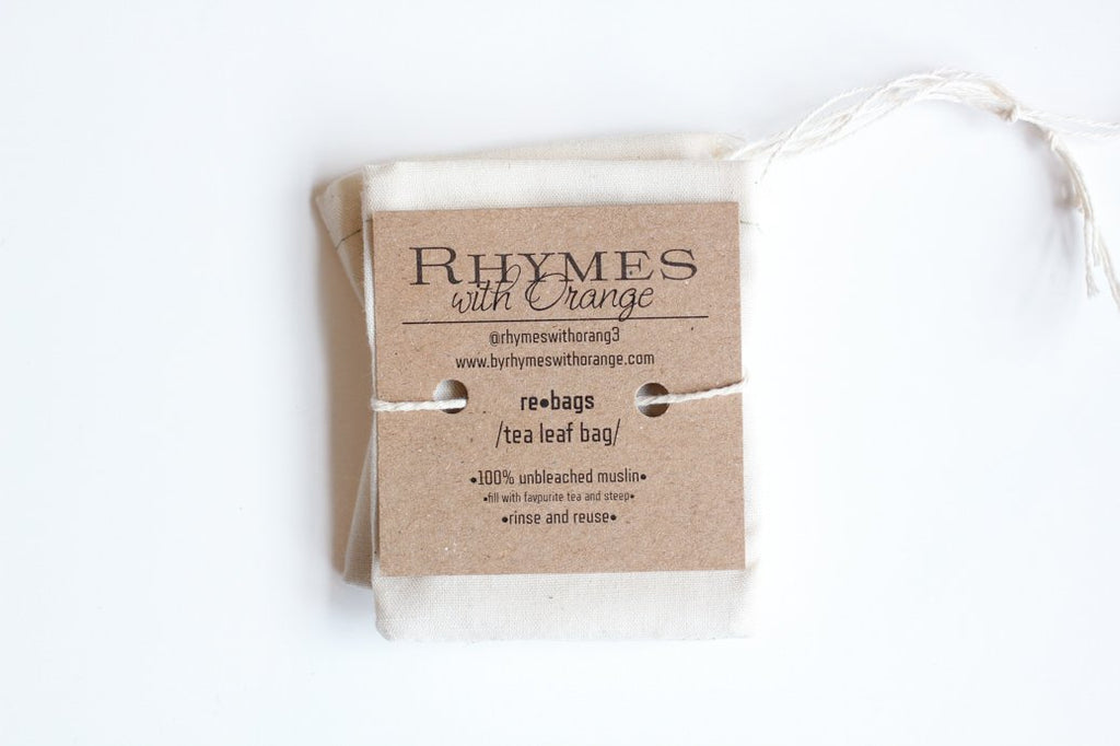 Reusable Tea Bags - Rhymes With Orange (4 PACK)