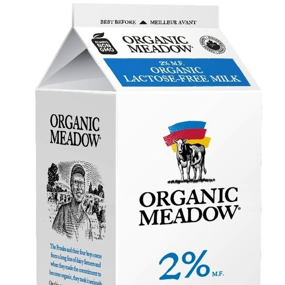 2% Lactose Free Milk - Organic Meadow