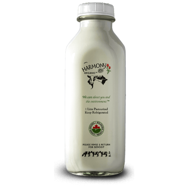 Unhomogenized Whole Milk - Harmony Organic <BR> (Includes $2 Jar Deposit)