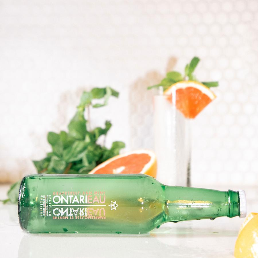 Sparking Grapefruit Mint Spring Water  - Ontarieau