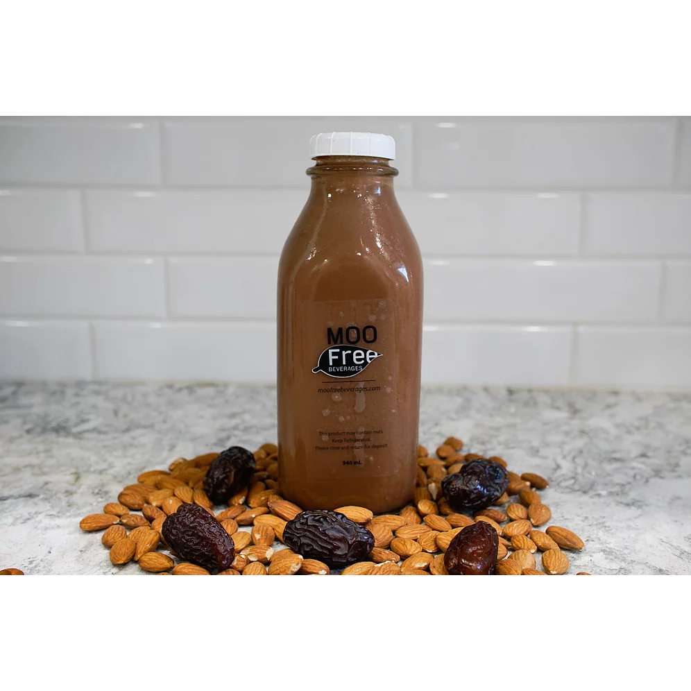 Almond Milk (Chocolate) - Moo Free <BR> (Includes $2 Bottle Deposit)