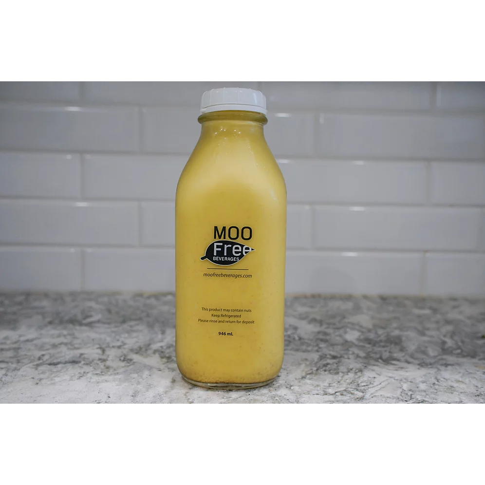 Almond Milk (Turmeric) - Moo Free <BR> (Includes $2 Bottle Deposit)