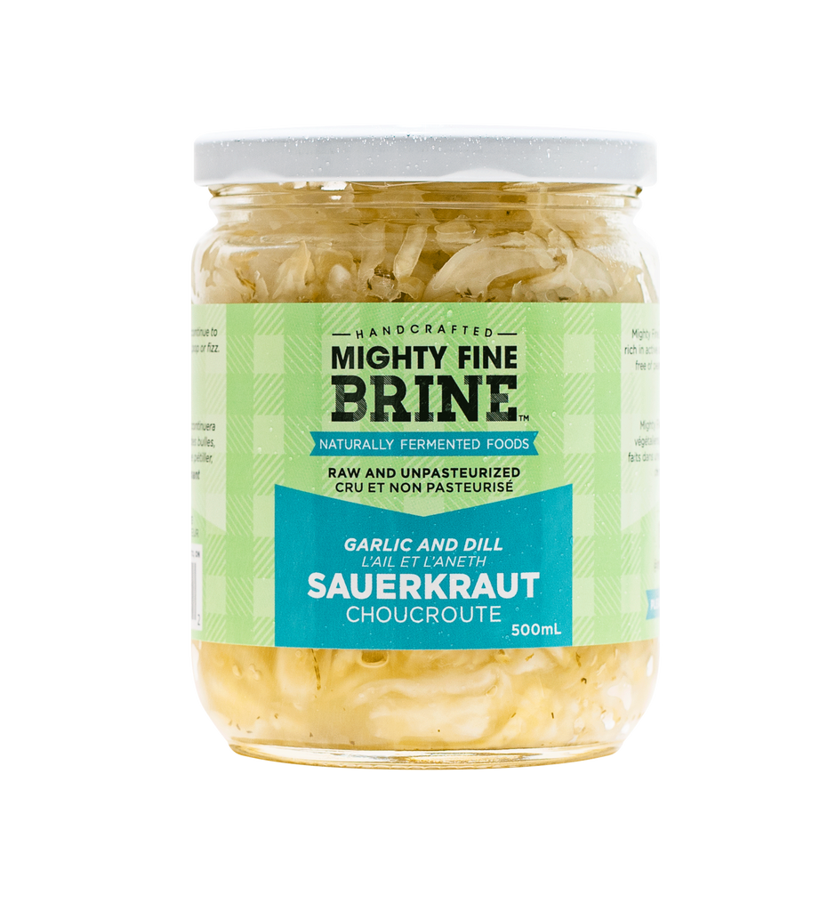 Garlic Dill Sauerkraut (Mighty Fine Brines)