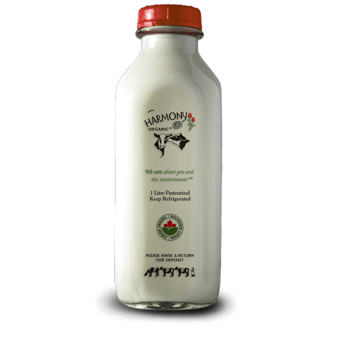 3.8% Whole Milk - Harmony Organic <BR> (Includes $2 Jar Deposit)