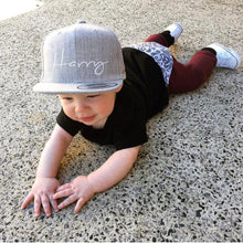 Load image into Gallery viewer, Grey Toddler Snapback