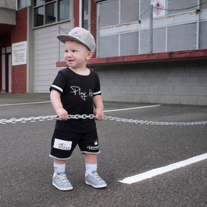 Grey Toddler Snapback