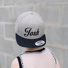 Load image into Gallery viewer, Grey/Black Youth Snapback