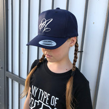 Load image into Gallery viewer, Navy Youth Snapback CURVED BRIM