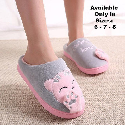 3ba47a0a345 Women s Cat Slippers - Gray - Rocco s Pet Palace