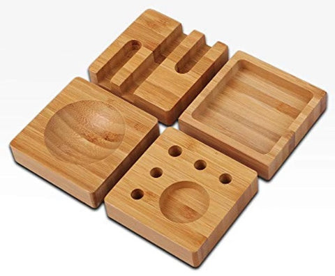 Bamboo Desk Organizer Blocks Set