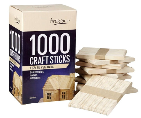 Natural Wooden Food Grade Popsicle Craft Sticks