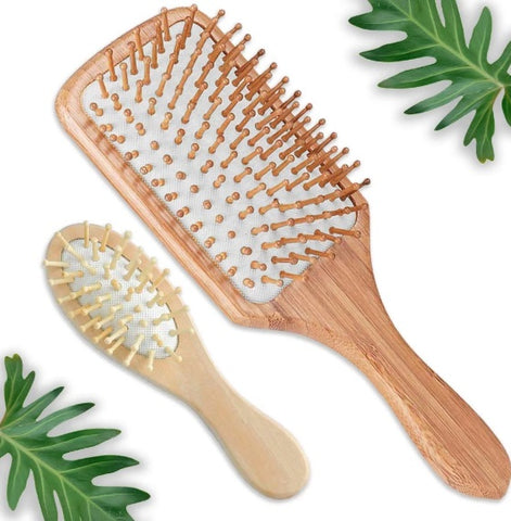 Wooden Detangling Paddle Hair Brush