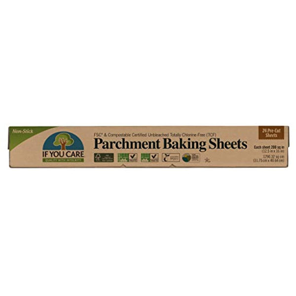 Unbleached FSC Certified Parchment Baking Sheets, 24-count, Pack of 12 - Eco Trade Company