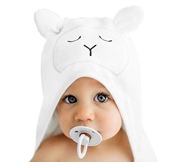 Premium Organic Hooded Baby Towel and Washcloth Gift Set - Eco Trade Company