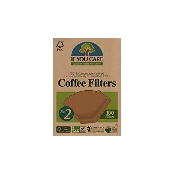 Biodegradable Coffee Filters, 100-Count Boxes - Pack of 12 - Eco Trade Company