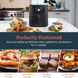 Air Fryer Large Hot Electric Oven Oilless Cooker Deluxe Temperature Knob Control, Nonstick, ETL Listed Basket, 3.7 QT-Mechanical - Eco Trade Company