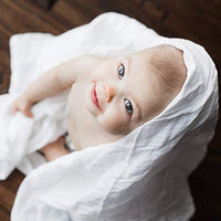 Extra Soft White Muslin Swaddle Blankets | Large 47 x 47 inches (2 Pack)| Lightweight and Breathable Premium Bamboo/Cotton Baby Swaddle Wrap - Eco Trade Company
