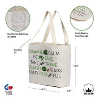 Reusable Grocery Bag Extra Large Heavy Duty 12 oz Cotton Canvas Multi-Purpose Durable & Machine Washable Proudly Made in the USA - Eco Trade Company