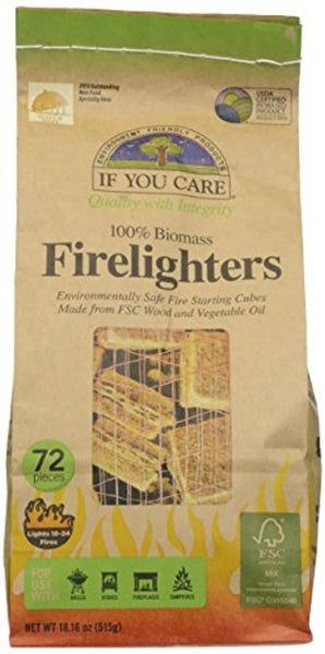 If You Care - Firelighters Wood Starting Cubes - 72 Piece(s) - Eco Trade Company