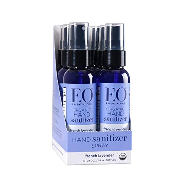 Organic Hand Sanitizer Spray: French Lavender, 2 Ounce, 6 Count - Eco Trade Company