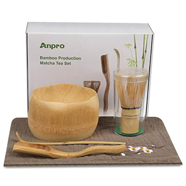 Bamboo Matcha Tea Whisk Set, Bamboo Whisk Holder Handmade Matcha Ceremony Starter Kit For Traditional Japanese Tea Ceremony - Eco Trade Company