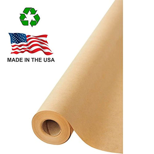 "Brown Kraft Paper Jumbo Roll 17.75"" x 1200"" (100ft) 100% Recycled Material, Made in USA - Eco Trade Company"