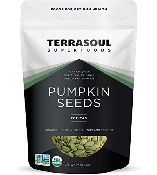 Terrasoul Superfoods Organic Pumpkin Seeds, 2 Lbs - Premium Quality | Fresh | Raw | Unsalted - Eco Trade Company