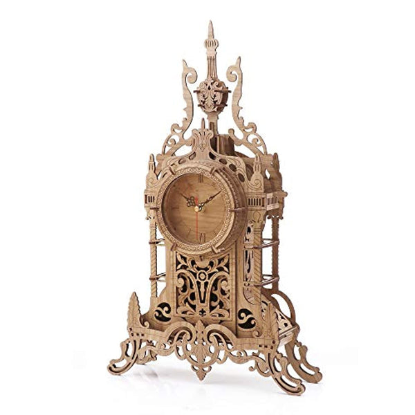 3D Wooden Puzzle Clock Model Kits for Adults- Tower Desk Clock - Eco Trade Company