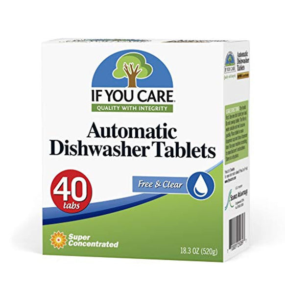 Plant Based Biodegradable Automatic Dishwasher Tablets, 40 Count - Eco Trade Company