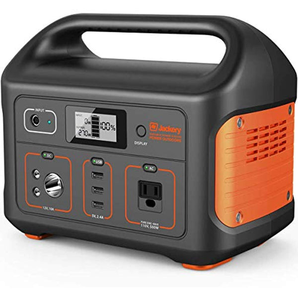 Jackery Portable Power Station Explorer 500, 518Wh Outdoor Mobile Lithium Battery Pack with 110V/500W AC Outlet, Solar-Ready Generator - Eco Trade Company