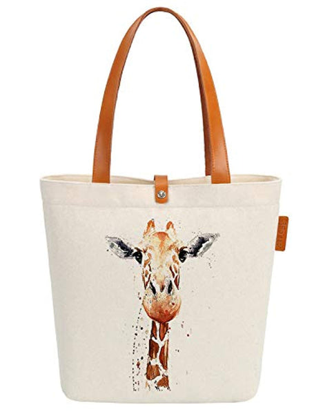 Gift Bag Giraffe Art Canvas & Beach Tote Bag - Eco Trade Company