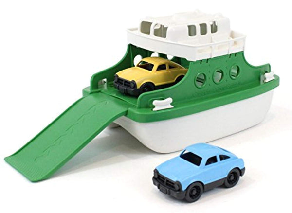"Ferry Boat Bathtub Toy, Green/White, 10""X 6.6""x 6.3"" Made from 100% Recycled Plastic, No BPA, Phthalates, PVC, or External Coatings - Eco Trade Company"
