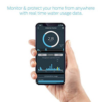 "Smart Home Water Monitor Leak Detector with Wi-Fi, No Pipe Cutting, 5-Minute Install, Real-Time Phone Alerts, Fits 3/4"", 1"" Pipe Compatible with Alexa - Eco Trade Company"