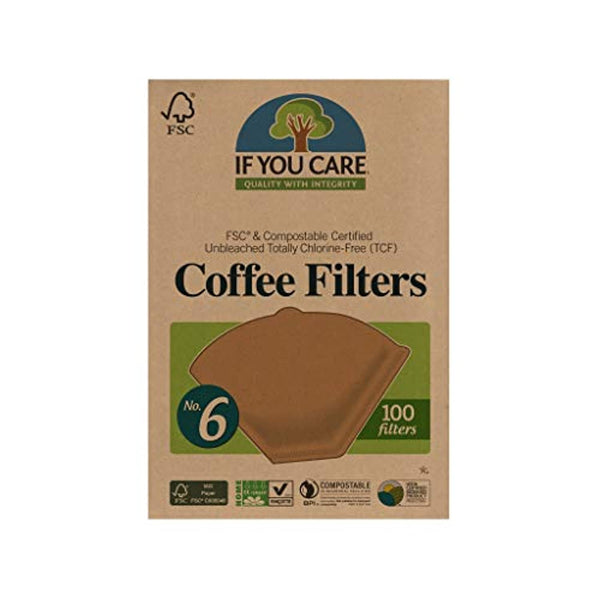 Unbleached FSC Coffee Filters, No 6, 100 Count - Eco Trade Company