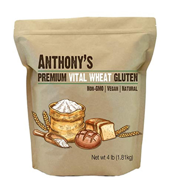Anthony's Vital Wheat Gluten, 4lbs, High in Protein, Vegan, Non GMO, Keto Friendly, Low Carb - Eco Trade Company