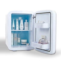 Mini Fridge Cooler and Warmer, for Skincare, Cosmetics, Breast Milk, Medications, 100% Freon-Free & Eco Friendly 15 Liter, Pearl White - Eco Trade Company